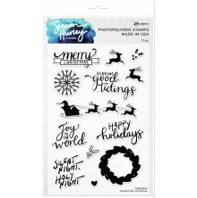 Simon Hurley create. Clear Stamps 6X9 - Handwritten Christmas
