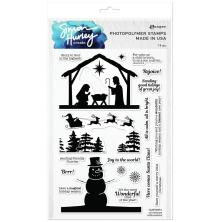 Simon Hurley create. Clear Stamps 6X9 - Christmas Silhouettes