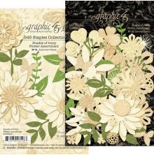 Graphic 45 Staples Flower Assortment - Shades Of Ivory