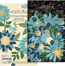 Graphic 45 Staples Flower Assortment - Shades Of Blue