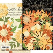 Graphic 45 Staples Flower Assortment - Shades Of Yellow & Orange