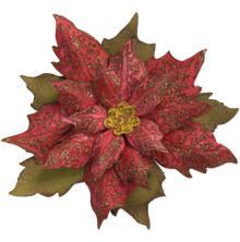 Tim Holtz Sizzix Bigz Die W/Texture Fades Folder - Layered Tattered Poinsettia