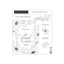 Concord & 9th Clear Stamps 6X6 - Heartfelt Blossoms