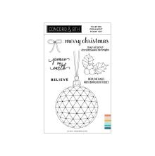 Concord & 9th Clear Stamps 4X6 - Yuletide Ornament