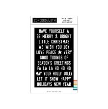 Concord & 9th Clear Stamps 4X6 - Mix & Match Holiday Sentiments