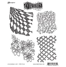 Ranger Ink Dyan Reaveley Dylusions Cling Stamp 4/Pkg - Background Love