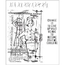Tim Holtz Cling Stamps 7X8.5 - Pattern Pieces