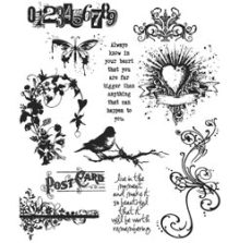 Tim Holtz Cling Stamps 7X8.5 - Urban Chic