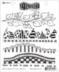 Ranger Ink Dyan Reaveley Dylusions Cling Stamp 6/Pkg - Further Around The Edge