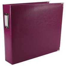 We R Memory Keepers Classic Leather D-Ring Album 12X12 - Wine