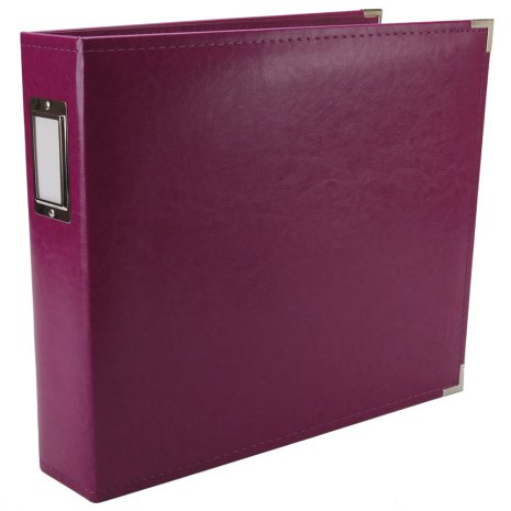 We R Memory Keepers Faux Leather 3-Ring Binder 12X12 - Wine