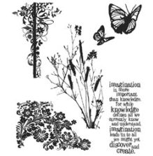 Tim Holtz Cling Stamps 7X8.5 - Nature´s Discovery