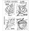 Tim Holtz Cling Rubber Stamp Set - Autumn Blueprint