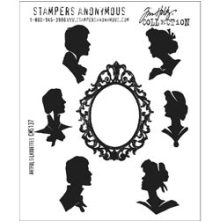 Tim Holtz Cling Stamps 7X8.5 - Artful Silhouettes