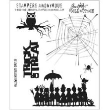 Tim Holtz Cling Stamps 7X8.5 - Halloween Cutouts