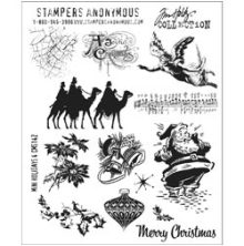 Tim Holtz Cling Stamps 7X8.5 - Mini Holidays 4