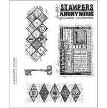 Tim Holtz Cling Stamps 7X8.5 - Classics #3