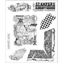 Tim Holtz Cling Stamps 7X8.5 - Classics #7