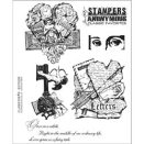 Tim Holtz Cling Rubber Stamp Set - Classics #8