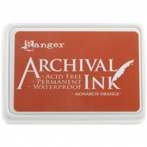 Ranger Ink Archival Inkpad - Monarch Orange