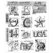 Tim Holtz Cling Stamps 7X8.5 - Mini Blueprints 2