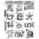 Tim Holtz Tim Holtz Cling Rubber Stamp Set Mini Blueprints 2