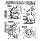 Tim Holtz Cling Rubber Stamp Set -  Easter Blueprint