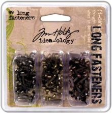 "Tim Holtz Idea-Ology Long Fasteners .4375"" 99/Pkg"