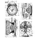 Tim Holtz Cling Rubber Stamp Set - Vintage Things Blueprint