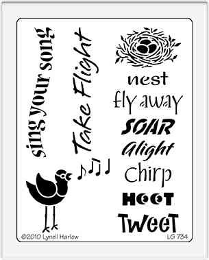 Dreamweaver Stencils LG - Bird song UTGÅENDE