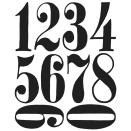 Tim Holtz Cling Rubber Stamp Set - Numeric