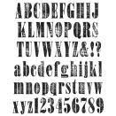 Tim Holtz Large Cling Rubber Stamp Set - Worn Text
