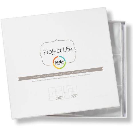 Project Life Photo Pocket Pages 60/Pkg - Big Variety Pack 2