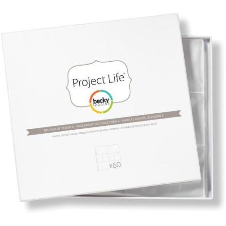 Project Life Photo Pocket Pages 60/Pkg - Design A