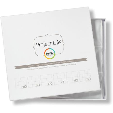 Project Life Photo Pocket Pages 60/Pkg - Big Variety Pack 1