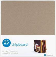 Silhouette Chipboard 12X12 25/Pkg