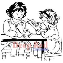 Deep Red Cling Stamp - Crafty Girls