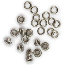 We R Memory Keepers 3/16 Eyelets & Washers 30/Pkg - Nickel