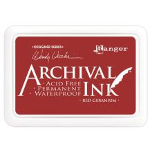 Ranger Archival Ink Pad Wendy Vecchi - Red Geranium