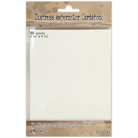 Ranger Distress Watercolor Cardstock (20 Pack) 4.25x5.5