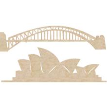 Kaisercraft Wood Flourishes - Sydney Icons 2/Pkg