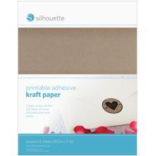 Silhouette Printable Kraft Sticker Paper 8.5X11 10/Pkg