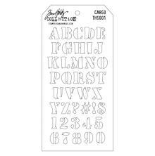 Tim Holtz Layered Stencil 4.125X8.5 - Cargo