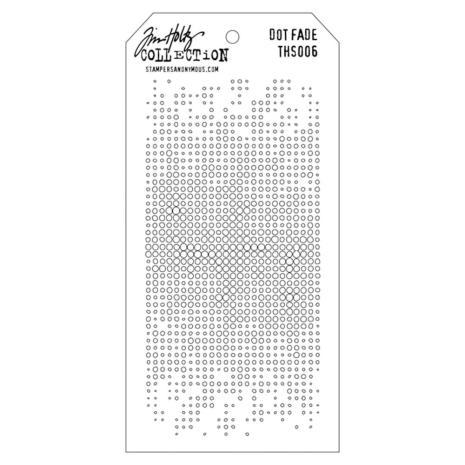 Tim Holtz Layered Stencil 4.125X8.5 - Dot Fade