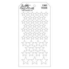 Tim Holtz Layered Stencil 4.125X8.5 - Stars