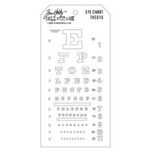 Tim Holtz Layered Stencil 4.125X8.5 - Eye Chart