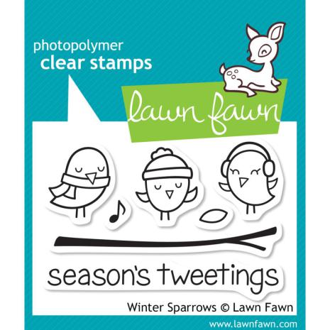 Lawn Fawn Clear Stamps 3X2 - Winter Sparrows