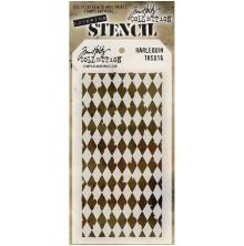 Tim Holtz Layered Stencil 4.125X8.5 - Harlequin
