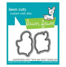 Lawn Fawn Cuts Custom Craft Die - Love You Tons