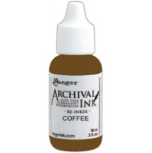 Ranger Archival Pad Re-Inker 18ml - Coffee